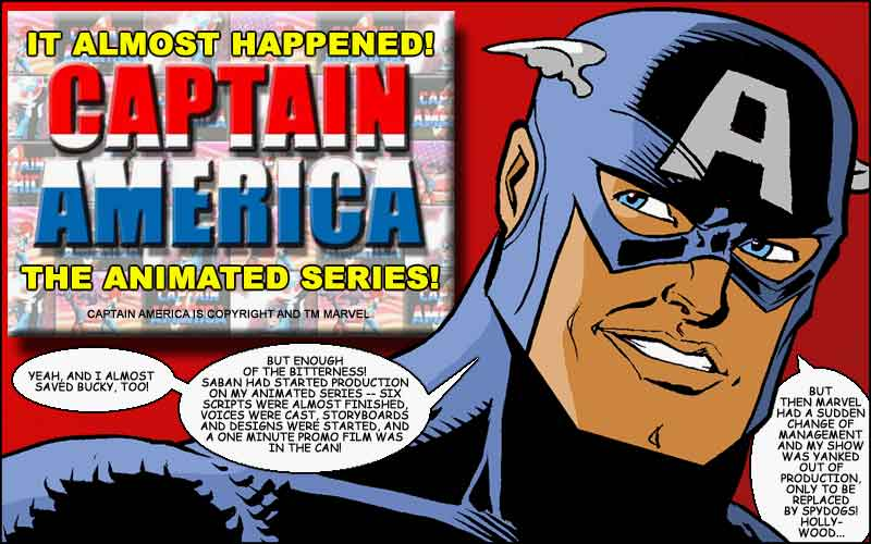 Captain America almost had his own tv show!