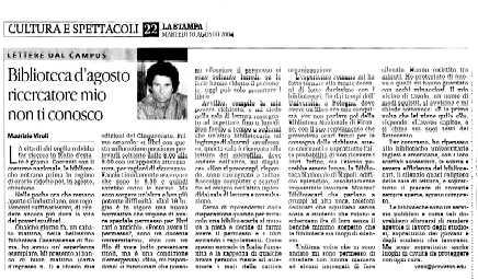 [La Stampa 10-08-04 p.22]