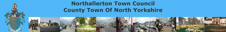 Image of header for CWU Northallerton Town Council home page web site
