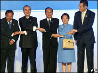 Asean country leaders at Vientiane Summit, 2004