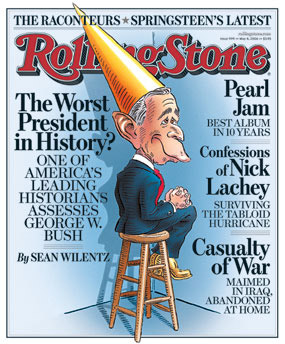 Rolling Stone - Bush Worst President in History.