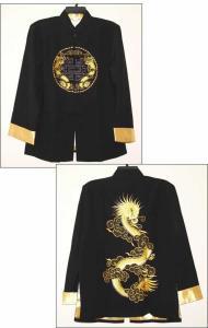 Black Jacket with Golden Dragon