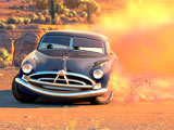 Doc Hudson (voiced by Paul Newman) in Disney's presentation of Pixar's 'Cars'