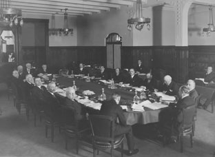 Board of Directors' unofficial first meeting in Basel, April 1930