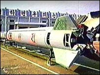 2002 picture of Taepodong-type missile