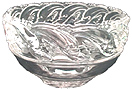 Tiffany contemporary lead glass crystal dolphin bowl