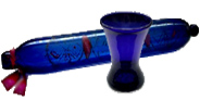 Early 19th century cobalt blue glass rolling oin and ale glass