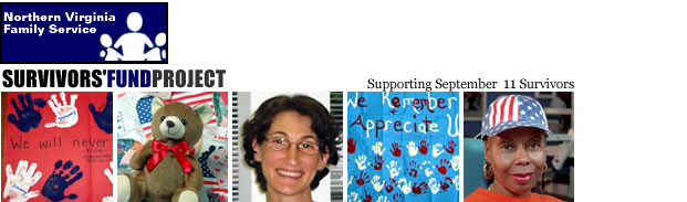 An image header of the Survivors' Fund Project, A Part of Northern Virginia Family Service