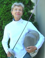 photo of saber fencer Sherry Green in July 2005