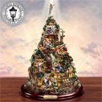 Thomas Kinkade Faith Mountain Religious Christian Home Decor - Collectible Thomas Kinkade Faith Mountain Brings the Passion to Life as an Exclusive Work of Religious Christian Home Decor!