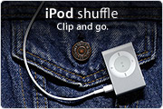iPod shuffe. Clip and go.