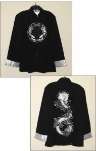 Black Jacket with Silver Dragon