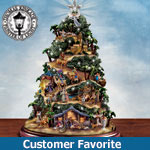 Thomas Kinkade Nativity Tree - Glory To The Newborn King Christmas Tree - First-ever Thomas Kinkade Nativity Tree - Christmas Nativity Scene Lights Up with the True Spirit of Christmas! Exclusive!