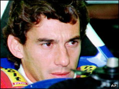 Ayrton Senna in racing car shortly before his death