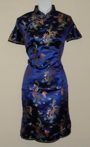 Navy Blue Chinese Dress