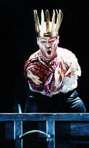 Thomas Quasthoff as Amfortas in Christine Mielitz's production of Wagner's 'Parsifal' at the Vienna State Opera (photo � Axel Zeininger, courtesy of Wiener Staatsoper GmbH)