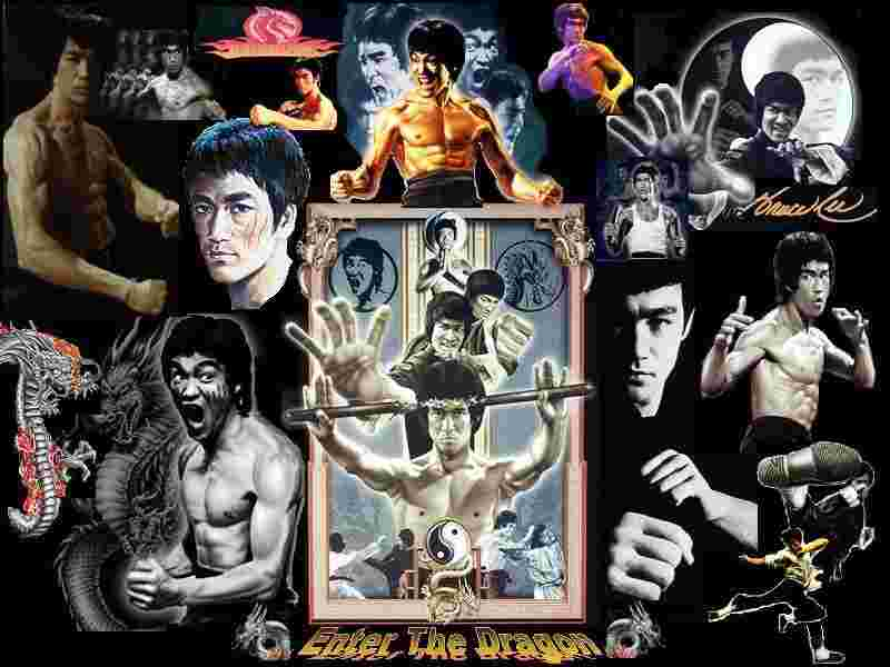 Enter The Dragon collage from the Bruce Lee shrine
