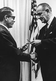 Frank McMahon and President Johnson, 1964