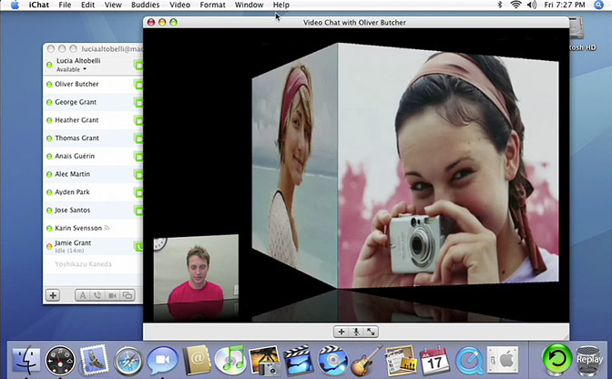 Quicktime Movie of iChat