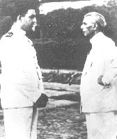 Quaid on-board HMPS GODAWARI in 1947
