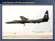 slide 17 Iraq denies UN reconnaissance