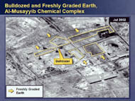 slide 26 bulldozed and freshly graded earth at al-musayyib chemical complex