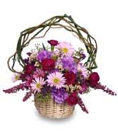 <i>LOVEABLE LAVENDER</i><br>Basket of Flowers