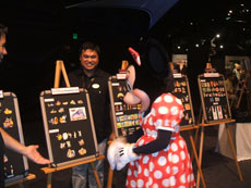 Even Minnie Mouse gets in on the collecting fun at a Disney collector event.