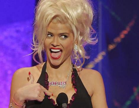 Anna Nicole Smith ... butt of black humour.