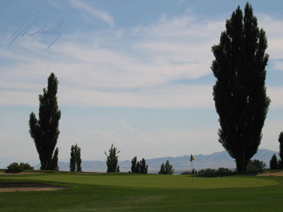 18th hole at Valley View golf course in Utah