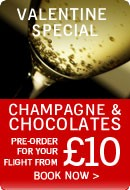 Pre order Champagned and Chocolates for your flight from £10