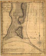 Special chart of Cape Florida belonging to the 13th Section, 1765.