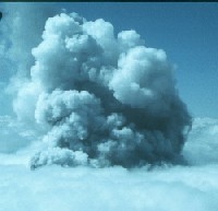 fourth in a series of 5 photos of an eruption on April 2, 1980