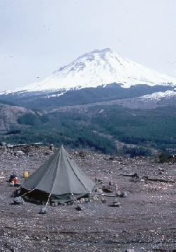 photo of the Coldwater One observation site north of Mount St. Helens