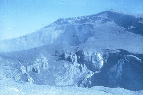 photo of second crater formed as a result of continuing explosions