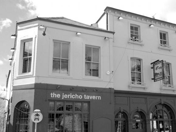 A photograph of the Jericho Tavern.
