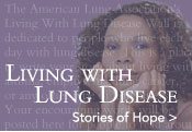 Share your story of living with lung disease