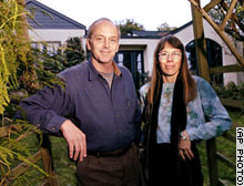 Wes Boyd and Joan Blades, co-founders of MoveOn, are seen outside their Berkeley, California, home.