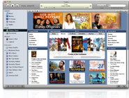 iTunes 7 screenshot and icon