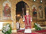 His Holiness Patriarchy Alexy on Divine Liturgy on the day of the Exaltation of the Precious Cross