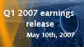 Q1 2007 results release