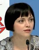 Christina Ricci at the Speed Racer press conference