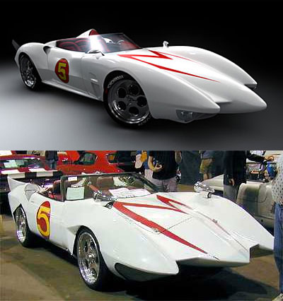 Speed Racer movie Mach 5 vs real world version.