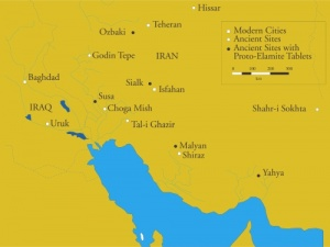 Title:Map of sites in Iran