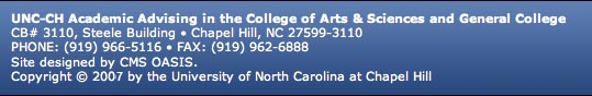 UNC-CH Academic Advising in the College of Arts & Sciences and General College