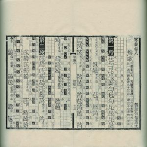 The Qinxue Congshu 【琴學叢書】 (1910) uses a more detailed system involving a grid next to main qin notation; right grid line indicates note, middle indicates beat, left indicates how the qin tablature relates to the rhythm.