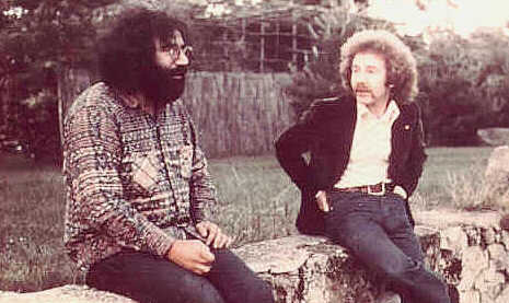 Jerry Garcia and Ian in France, 1971