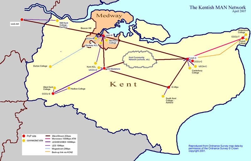 Map of the Kentish MAN Network