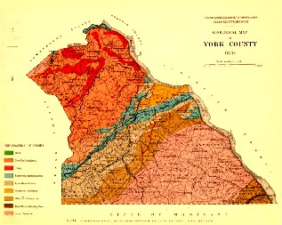 York County map image