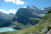 Glaciated scenery, Grinnell Lake, USGS photo
